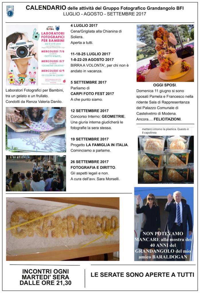 Grandangolo News 001 2017 calendario