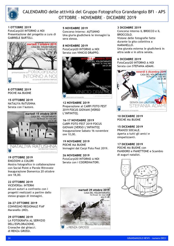 G News numero 010 CALENDARIO