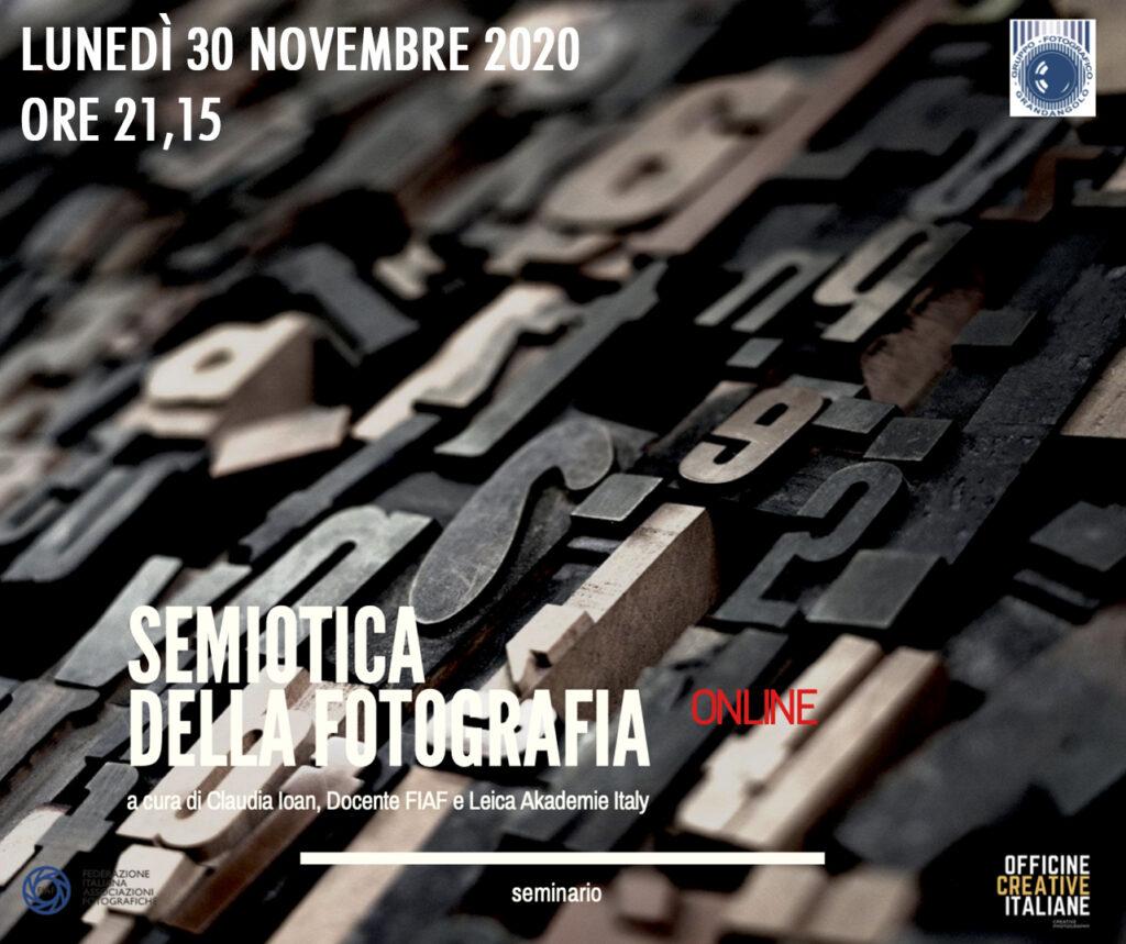 2020 11 30 Semiotica della fotografia 1