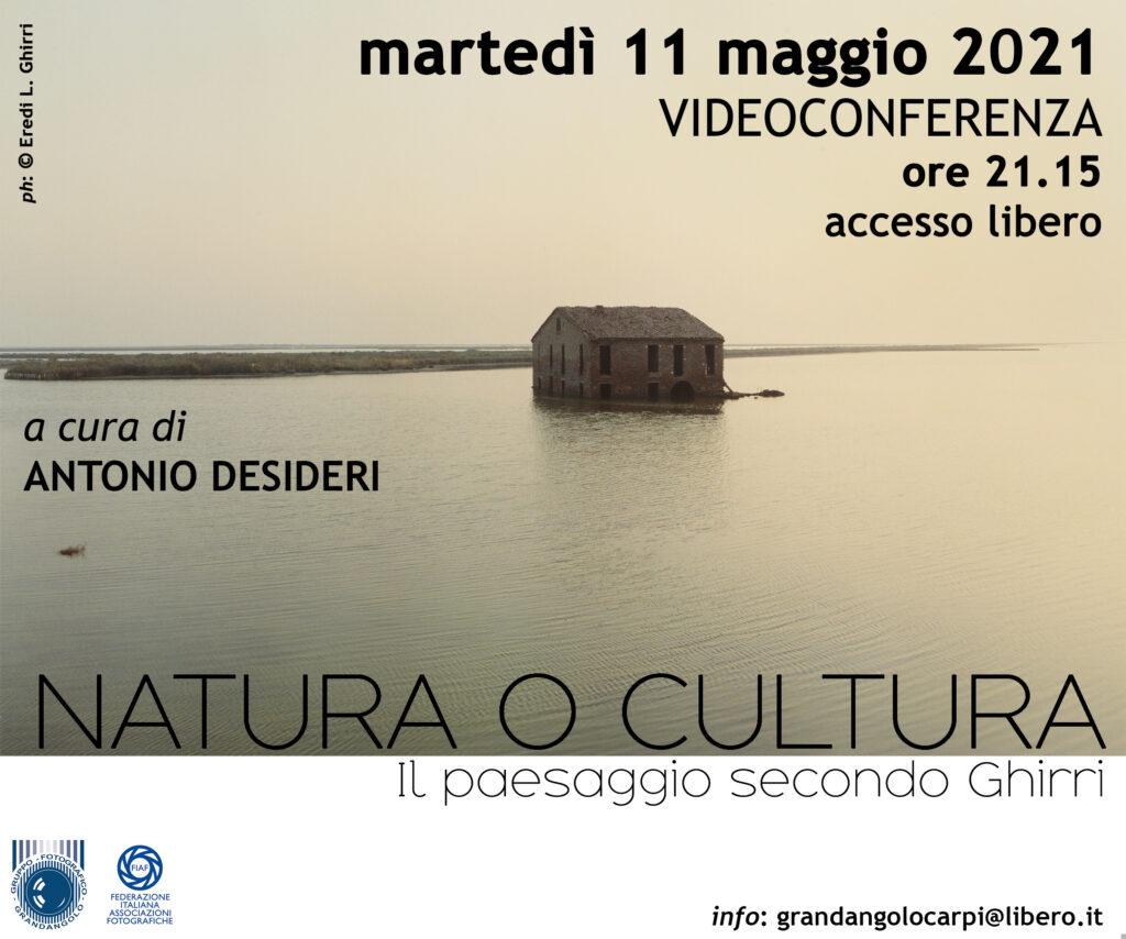2021 05 11 Natura o Cutura Antonio Desideri