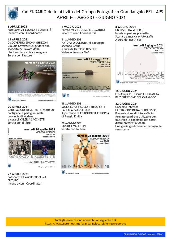 G News numero 016 CALENDARIO